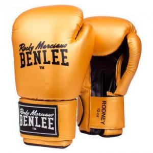 Боксёрские перчатки BENLEE Rodney 14 ун. (194007/6010) Золотой/Черный