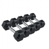 Гантели Rising Rubber Hexagon Dumbbell DB6101-10 кг Шестигранные прорезиненные гантели