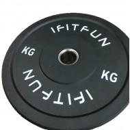 Бамперный диск для кроссфита черный Bamper Plate I Fit Fun-15 кг