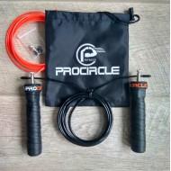 Легкая высокоскоростная регулируемая скакалка на подшипниках ProCircle для кроссфит в стильном мешке со сменным тросом
