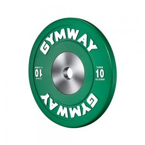 Диск бамперный соревновательный GymWay, 10 кг WPR-10K