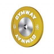 Диск бамперный соревновательный GymWay, 15 кг WPR-15K
