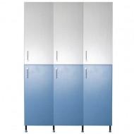 Трехсекционный шкаф для раздевалок, (2 ячейки) W-5D