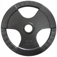 Диск олимпийский с хватами Newt 20 кг TI-N-020
