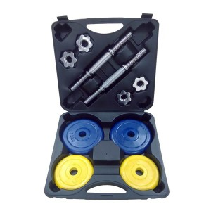 Домашний гантельный набор FitLogic Home Dumbbell Rubber Set Box 20kg