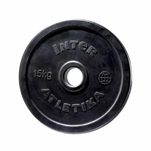 Диск обрезиненный InterAtletika LCA026-M 15 кг