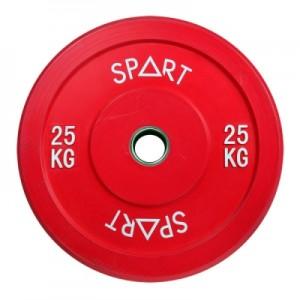 Бамперные диски цветные 25 кг Spart Bumper Plates Color 25 kg