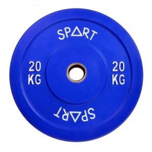 Бамперные диски цветные 20 кг Spart Bumper Plates Color 20 kg