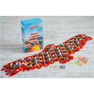 Коврик-дорожка массажный с цветными камнями Орел Onhillsport 148х50 см