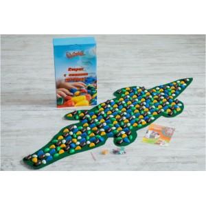 Коврик-дорожка массажный с цветными камнями Крокодил Onhillsport 146х50 см