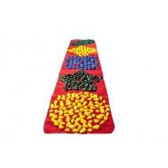 Коврик-дорожка массажный с цветными камнями развивающий Onhillsport 200х40 см