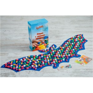 Коврик-дорожка массажный с цветными камнями Летучая мышь Onhillsport 143х50 см
